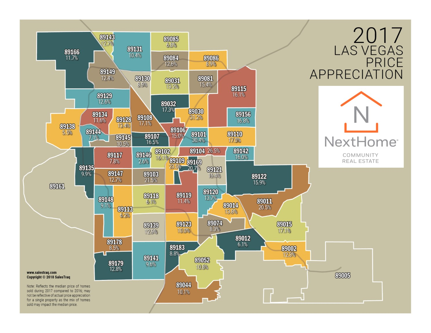 Las Vegas Zip Code Appreciation Map – The Torsiello Group